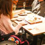 車椅子のまま食事が楽しめます