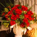 店内に飾られた綺麗な花