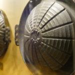 歴代のジンギスカン鍋が展示されています♪