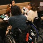 車椅子が2台並べます