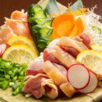 国産鶏タタキ2種盛り 980円